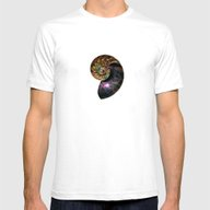 Fossilized Nautilus Shel… Mens Fitted Tee White SMALL