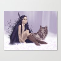 Little Feather Canvas Print