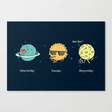 Moonday Canvas Print