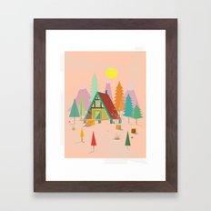 A-Frame Cabin Framed Art Print