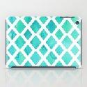 Watercolor Mint Diamonds iPad Case