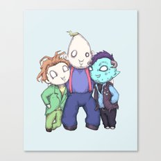 Fred, Sloth, Maurice  Canvas Print