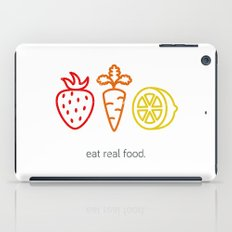 Eat Real Food. (light) iPad Case