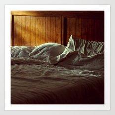 Morning Light on Bed Art Print