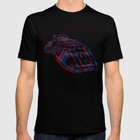 Classic Galactica 3D Mens Fitted Tee Black SMALL