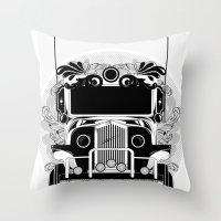 Jeep Ni Erap Throw Pillow