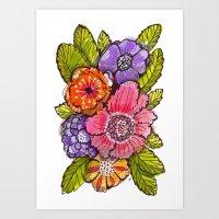 Garden Fauxtanical 1 Art Print