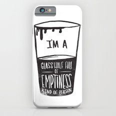 glass half full of emptiness Slim Case iPhone 6s