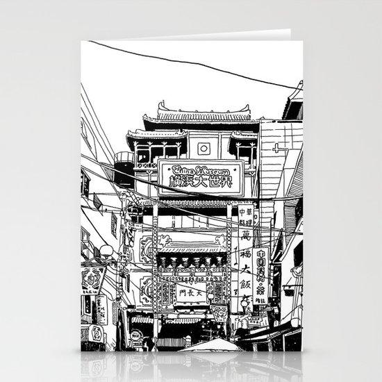 Yokohama - China town Stationery Card
