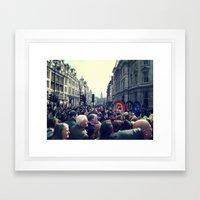 A London Parade  Framed Art Print