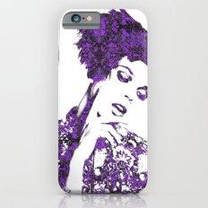 Purple Fashion Floral Slim Case iPhone 6s