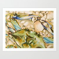 Blue Crab 2 Art Print