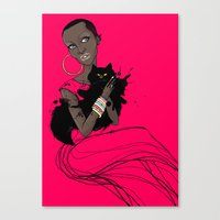 AFRIcat Canvas Print