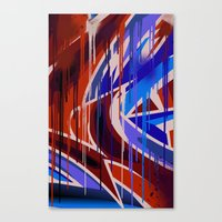 Drips War Canvas Print