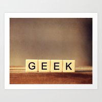 Geek Love Art Print