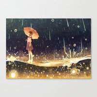 shower of meteors Canvas Print