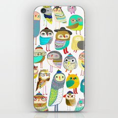Owls. owl illustration, owl art, owl decor, pattern, art, design, animal, nature, kids, children,  iPhone & iPod Skin