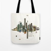 Collage City Mix 9 Tote Bag