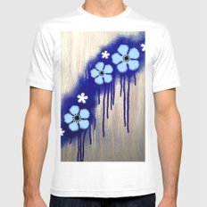 Deep Sea Blues SMALL White Mens Fitted Tee