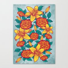 Flowers - Red Canvas Print