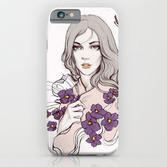 Birth Flower II - Violet iPhone & iPod Case