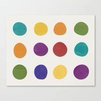 Color Dots Canvas Print