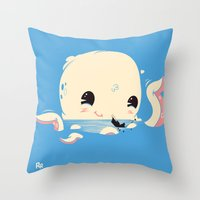 Adorable Octopus Battle … Throw Pillow