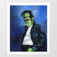 Rebel Frankenstein Art Print
