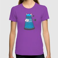 Exterminate Me Variant (Dr Who) Womens Fitted Tee Ultraviolet SMALL