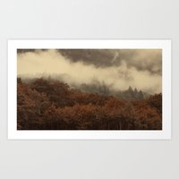 Breaking Mist Art Print