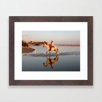 A caballo Framed Art Print