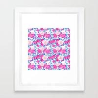 Pink Shabby Chic Roses A… Framed Art Print
