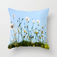 Dandelions Throw Pillow