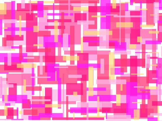 Pink Rectangles Art Print