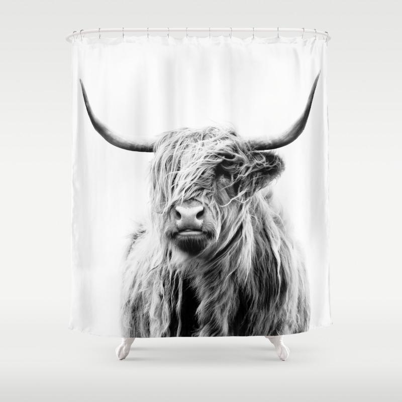 Black-white Shower Curtains   Society6