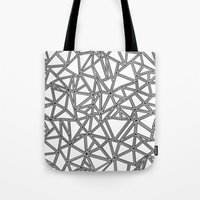 Abstract New Black On Wh… Tote Bag