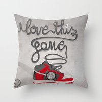 I Love This Game Throw Pillow