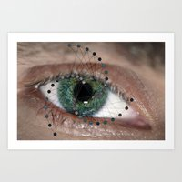 The Geometric Eye Art Print