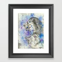 Lion & Lioness  Framed Art Print