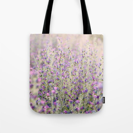 Purple flowers Tote Bag