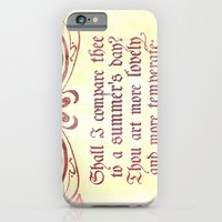 Shall I comare thee to a summer's day? --Sonnet 18 Shakespeare Quote iPhone 6 Slim Case