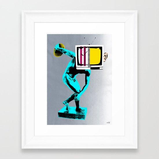 Diskus TV Framed Art Print