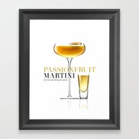 Passionfruit Martini with Champagne Shot Framed Art Print