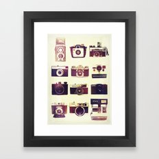 Analog Love Framed Art Print