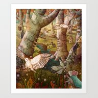 Art Print featuring Of Mice And Owls by Taylor Rose