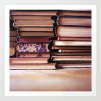 Vintage Pages Art Print