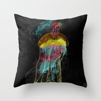 Electric Fins Throw Pillow