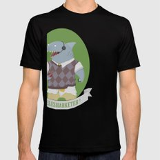 Telesharketer! SMALL Black Mens Fitted Tee