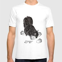 Little Acorns - The White Stripes Mens Fitted Tee White SMALL