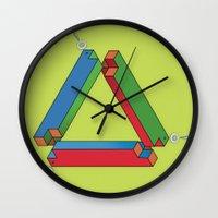 IMPOSSIBLE TRIBAR Wall Clock